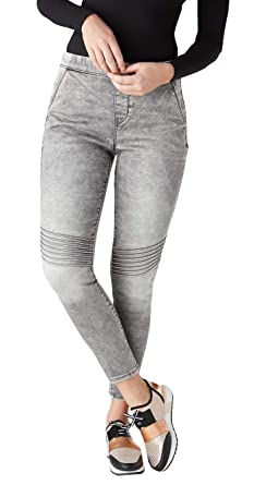 7106c837d240 Image Unavailable. Image not available for. Color: DENIZEN from Levi's  Women's Junior's High-Rise Moto Jeggings (Gray ...