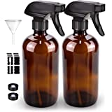 Glass Spray Bottle, Bontip Amber Glass Spray Bottle Set & Accessories for Non-toxic Window Cleaners Aromatherapy Facial hydra