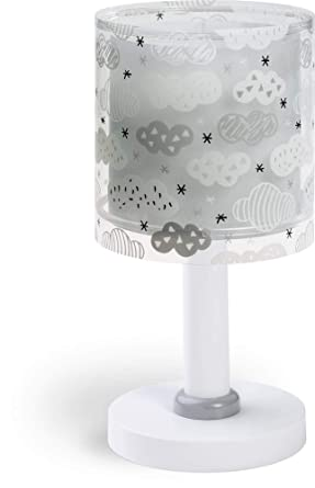 Dalber Clouds - Lámpara Infantil de Sobremesa, gris