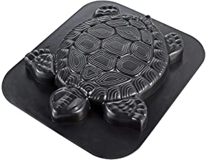 "Skelang Turtle Pavement Mold, Reusable Path Maker Mold Concrete Cement Mould 15.75""×13.39""×1.5"", Tortoise Stepping Stone Mould for DIY Garden Path, Patio Lawn Walkway, Yard Floor Paving"