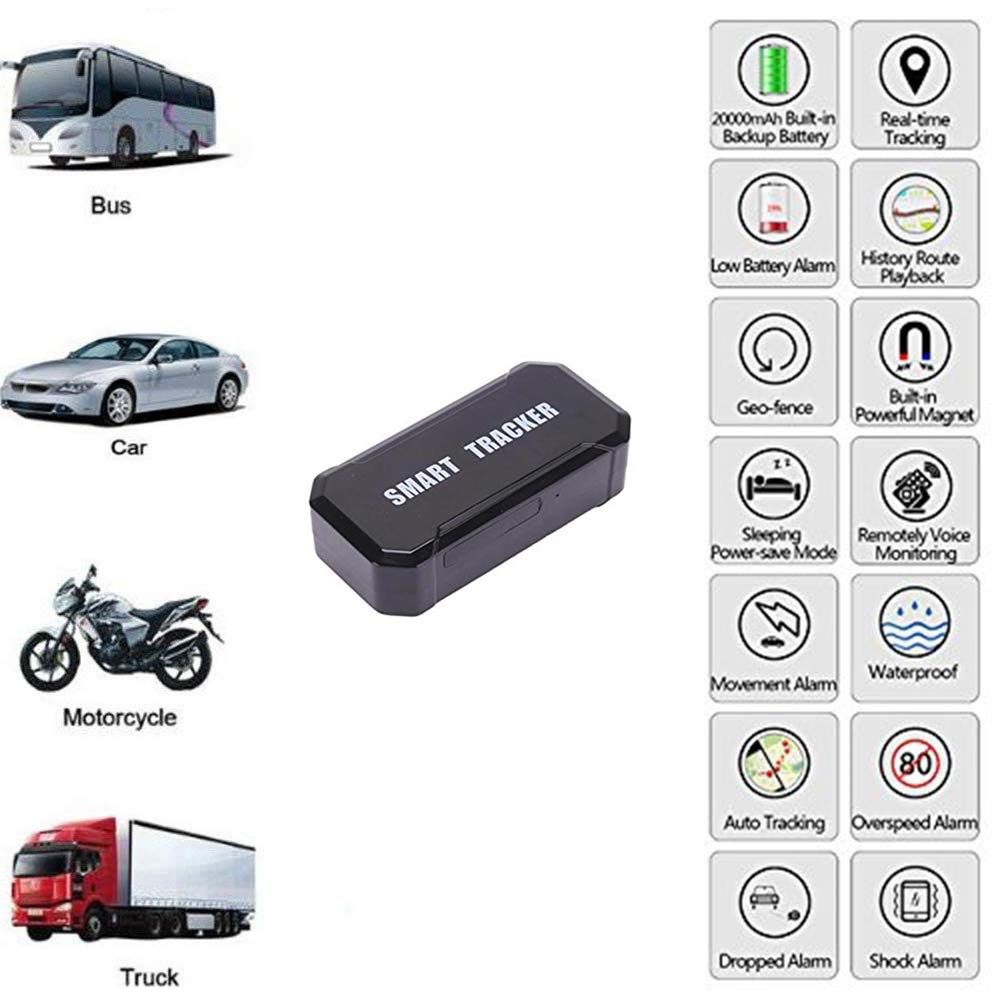 10000MA Magnet GPS Tracker, Portable Real Time Personal and Vehicle GPS Tracker,Wireless Mini Portable Magnetic Tracker Hidden for Vehicle Anti-Theft/Teen Driving by YangtongLK