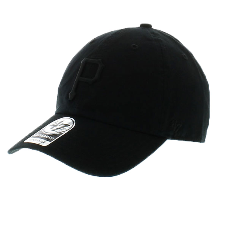 47 Clean Up Brand Pittsburgh Pirates Mens Adjustable Strapback in Black