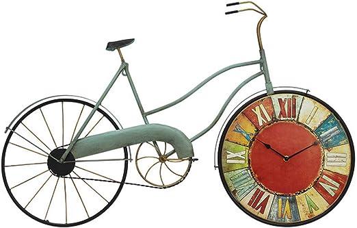 Reloj de Pared Artesanía de hierro vintage Bicicleta en forma Reloj ...