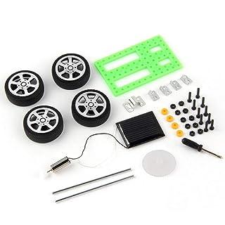 Sanzhileg Mini Giocattolo di plastica a Mano ad energia Solare Kit Auto Fai da Te Tecnologia per Bambini Gadget educativo Hobby Kit Divertente 8-11 Anni