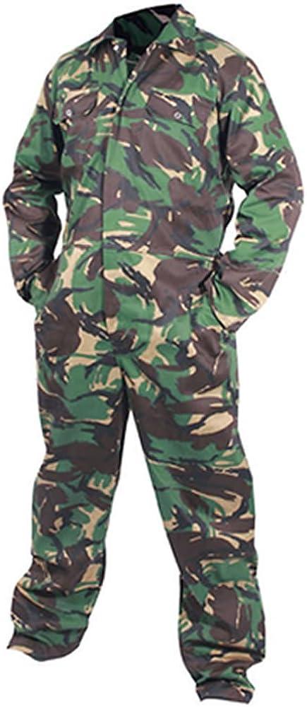 Camouflage Arm/ée Adultes Combinaisons De Combinaisons V/êtement de travail Boilersuit Militaire DPM Chasse Paintball