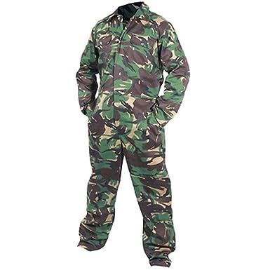 Army And Workwear Camuflaje ejército Adultos Mono Mono Ropa ...