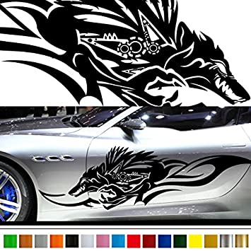 Wolf car sticker 147 car vinylgraphic custom stickers decals 【8 colors to