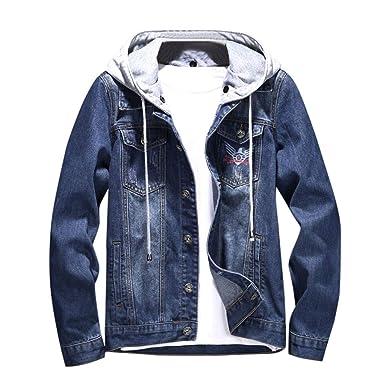5957b442a8 Hanomes Herren Jacke,Herren Herbst Winter Casual Hoodie Mode Sweatshirt  Lose Sweatjacke Knopf Kordel Classic Jacke: Amazon.de: Bekleidung