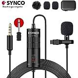 SYNCO Lav S6 Microfono-Solapa-Microfono-Lavalier-Condensador Omnidireccional 6M, Micrófono de Corbata Compatible para Cámaras, Móviles, Grabadoras de Audio, Mezcladores, Computador Portátil, PC …