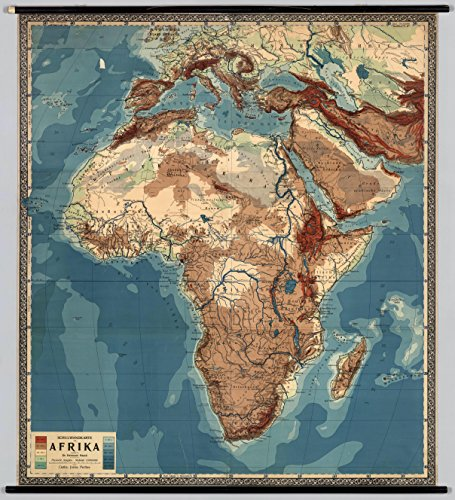 Home Comforts LAMINATED POSTER Map of Physical Wall Map of Africa (1900) POSTER 24x16 Adhesive Decal