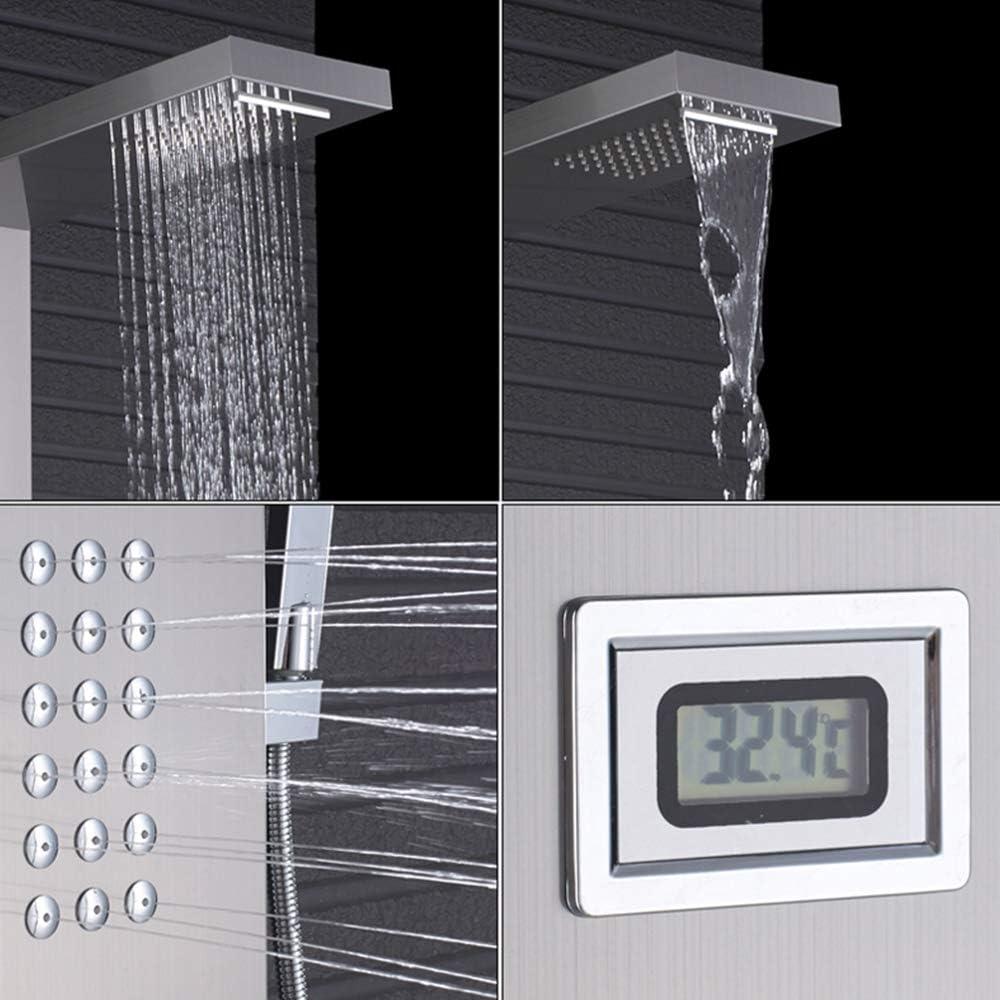 TAN Sistema De Ducha para Baño, Termostático Columna Hidromasaje ...