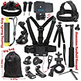 SUREWO Basic Outdoor Accessories Kit for Gopro Hero 6/5/4 Black Hero 5/4 Session 4 Silver 3+ SJ4000/5000/6000 and Sony Sports Dv and More