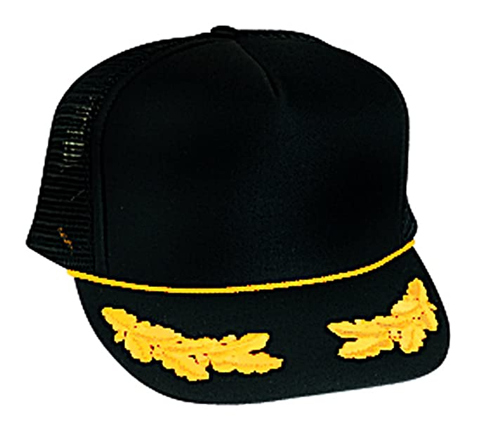 0d72a525dde90 Polyester Foam Front Oak Leaves High Crown Golf Style Mesh Back Cap ...