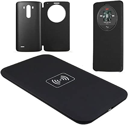 For Lg G3 D851 D850 D855 Internet Qi Wireless Charger Charging Pad Quick Circle Leather Case Amazon Co Uk Beauty