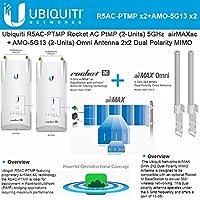 Ubiquiti R5AC-PTMP (2Pack) AirMax + AMO-5G13 (2Pack) Omni Antenna 5GHz 13dBi