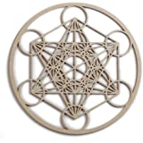 "12"" Metatron's Cube, wooden wall art hanging home decor, sacred geometry art, wood sculpture, wall decorations, USA made geometric"