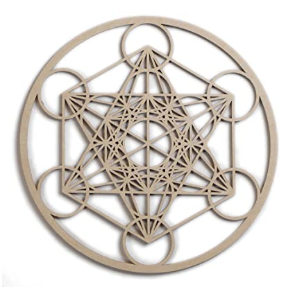 Amazon Com 12 Metatron S Cube Wooden Wall Art Hanging Home Decor
