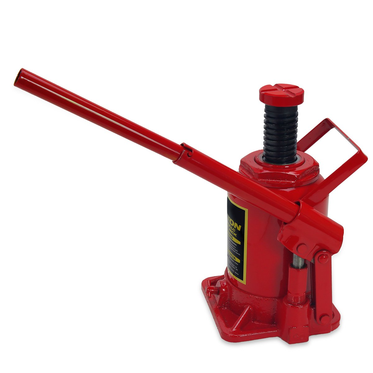 XtremepowerUS Hydraulic Bottle Jack (20 Ton) Portable Hydraulic Jack Lift Height Farm RV Truck Equipment Automotive Shop