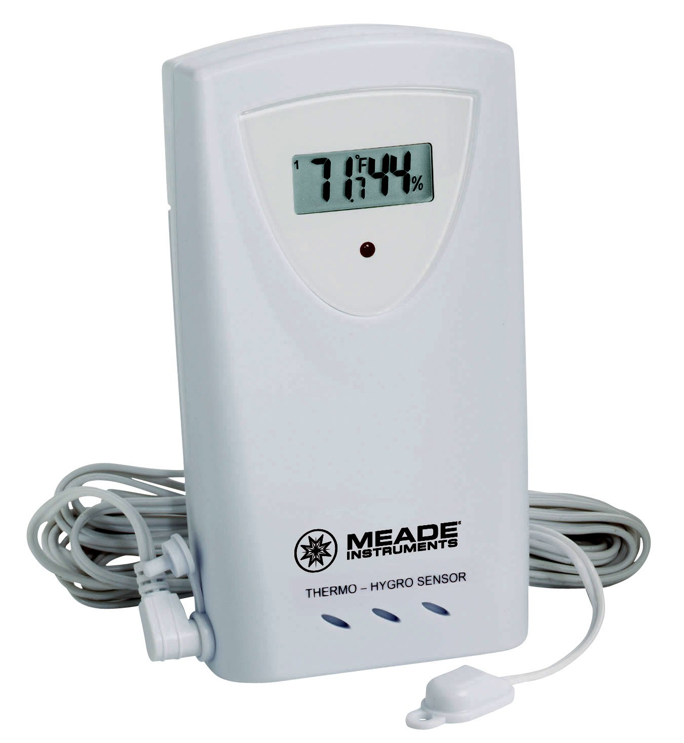 Meade Instruments TS33F-M Temperature and Humidity Sensor with Probe, White