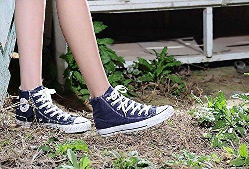 34 Rojo de Tamaño 35 Par de Blanco Unisex Color Zapatos Azul Casual 39 Low los de Mujeres Estudiantes Azul Lona Las Zapatos Negro Tamaño Shoes Rise TxwRxfq4
