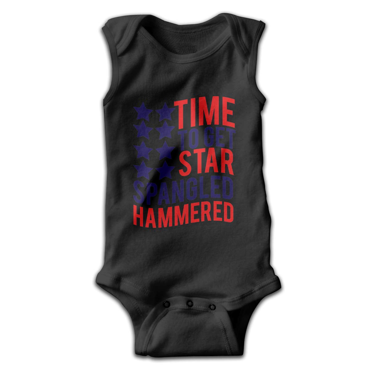 Efbj Toddler Baby Boys Rompers Sleeveless Cotton Jumpsuit,Time to Get Star Spangled Hammered Outfit Winter Pajamas