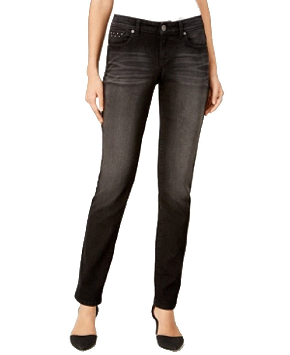 88253fe5f0e Style   Co. Petite Studded Straight-Leg Jeans at Amazon Women s Jeans store