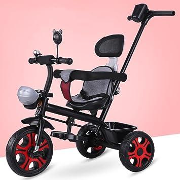QXMEI Bicicletas para Niños Bicicletas 1-3 Carros para Niños Bicicletas para Niñas Y Niños,Black: Amazon.es: Hogar