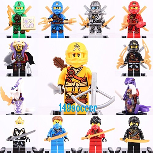 gonggamtop 13pcs Set Ninjago Custom Lego Mini Figures Building Toy Super Hero