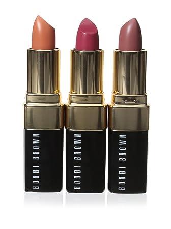 Amazoncom Bobbi Brown Lip Color Trio Pinks 2 15 Ounce Beauty