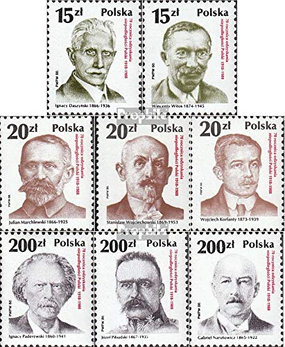 Poland 3169-3176 (Complete.Issue.) 1988 70 Years unabh. Republic (Stamps for Collectors) ()