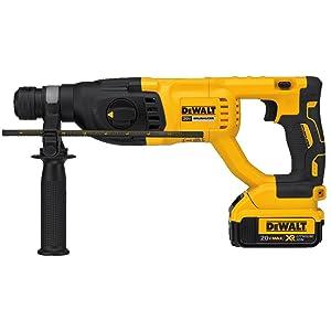 """DEWALT DCH133M2 20V Max XR Brushless 1"""" D-Handle Rotary Hammer Kit"""