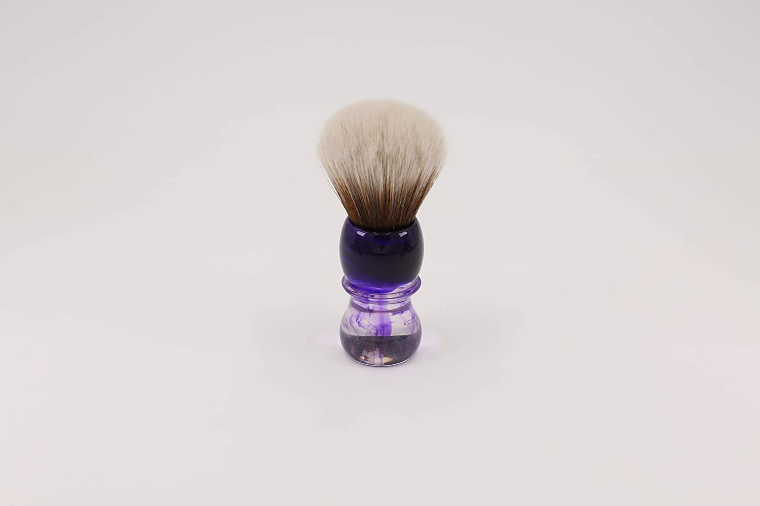 Purple Haze 24mm Shaving brush by Yaqi | Synthetic Mew Brown Hair Knot with Durable Resin Handle | Get a Barber Quality Lather Each Time | R1738-S Yaqi Brush