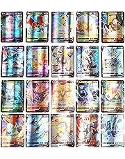 Pokemon kaarten, 300 stuks Pokémon-kaartenset, 100VMAX + 190V + 7GX + 3MEGA, Ultra Beast GX EX-tag-teamkaarten, mega-trainerkaarten, dagelijkse energiekaarten