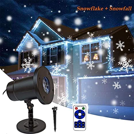 Proyector Navidad LED Exterior/Interiores Rotativo Impermeable ...