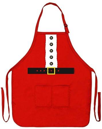 amazon com santa apron mrs claus kitchen cooking baking crafting
