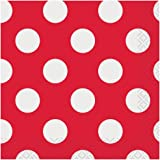 Red Polka Dot Beverage Napkins, 40ct