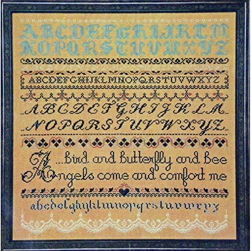 Sampler Counted Cross Stitch Leaflet - Angel Sampler - Counted Cross Stitch Leaflet - Lavender & Lace