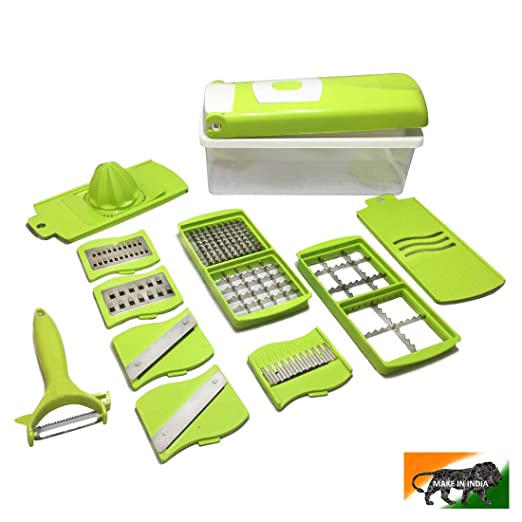 Buy LADY THIKHAI Multipurpose Vegetable and Fruit Chopper / (12 in 1) Cutter Grater Slicer - Multifunctioning Hand Grater and Slicer/Kitchen Accessories Online at Low Prices in India - Amazon.in