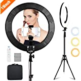 Volkwell 19-inch Dimmable LED Ring Light, Wireless Remote Control Selfie Ringlight with Tripod Stand Phone Holder and Carrying Bag for Live Stream/Makeup/YouTube Video/Camera Shooting.