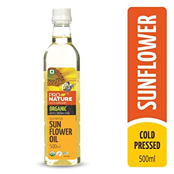 Pro Nature 100% Organic Sunflower Oil 500 ml