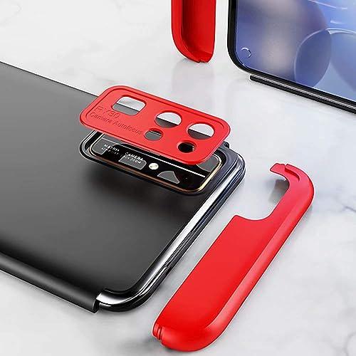 DYGG kompatibel mit Premium Hart PC 360 Grad Hulle Huawei Honor 30s 5G inbegriffen Panzerglas 3 in1 Handytasche Handyhulle Schutzhulle Cover Schwarz Blau