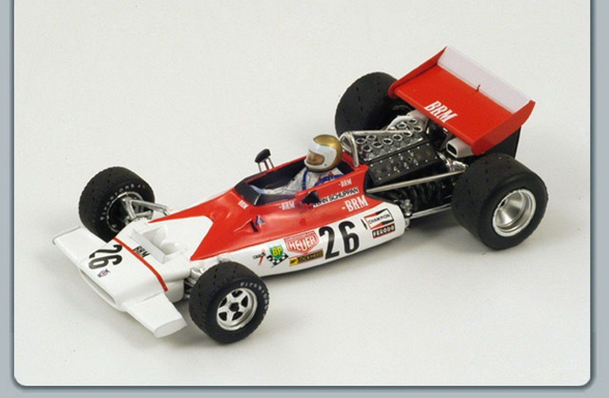 NEWES Spark Model S1155 BRM V.SCHUPPAN 1972 N.26 Belgium GP 1:43 MODELLINO Die Cast