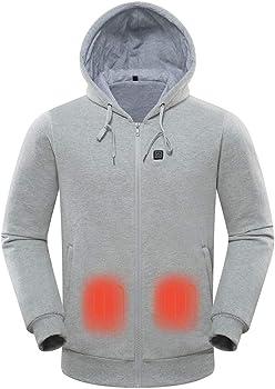 Qiuue Long Sleeve Men's Warm Zipper Jacket