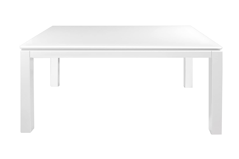 amazoncom furniture of america basic modern rectangular highgloss dining table white tables