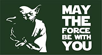 Amazoncom Star Wars Flag Yoda May The Force Be With You 3x5