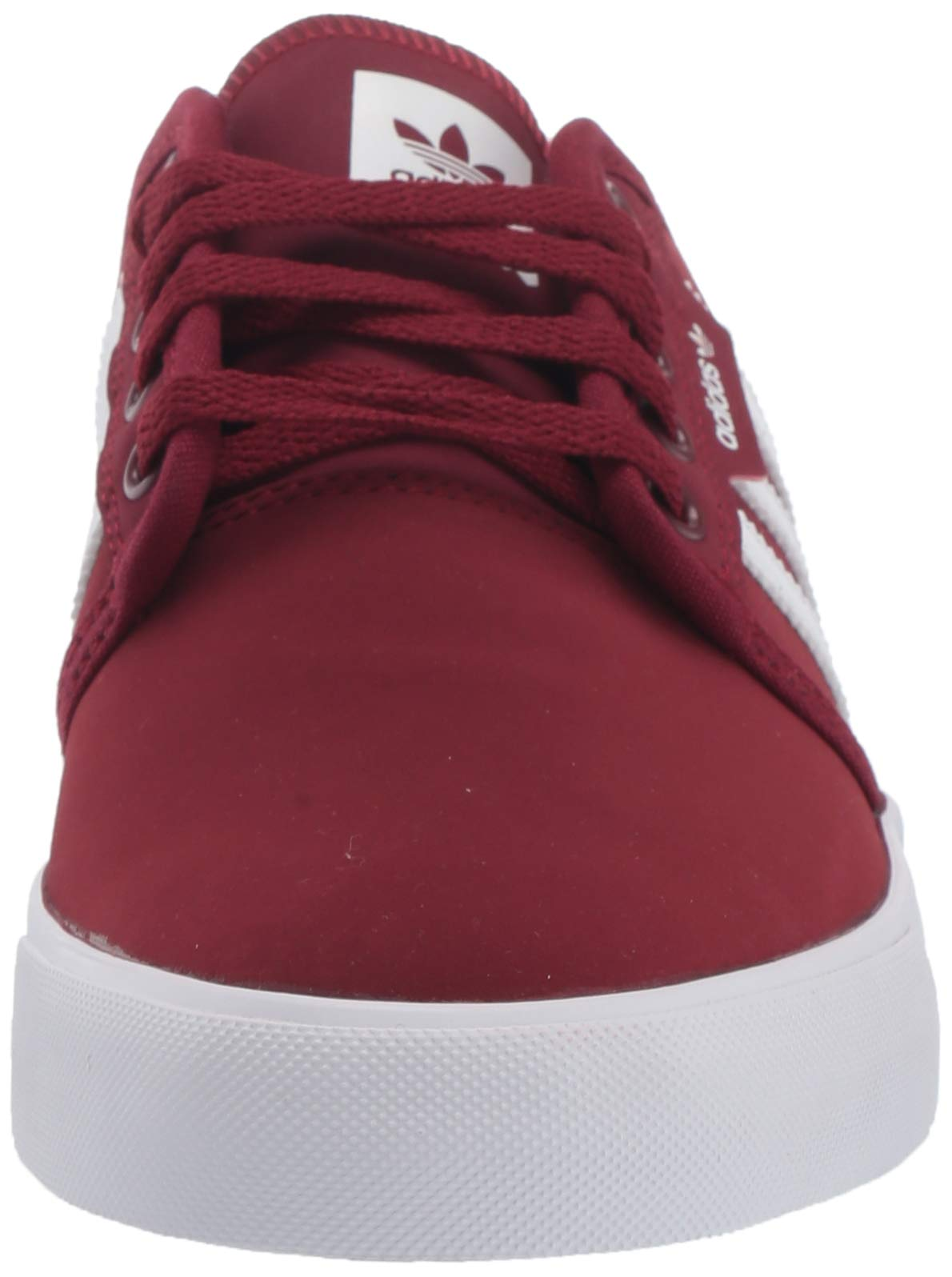 adidas Originals Men's Seeley Sneaker, Collegiate Burgundy/White/White, 13.5 M US
