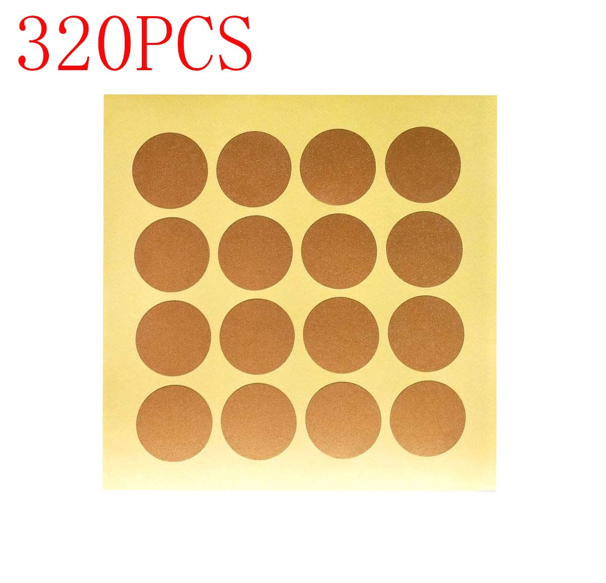320-Pack of 1 inch Gold Scratch Off Labels Stickers Self Peel & Stick Perfect DIY Labels- Scratch Off Labels for Schools Teacher/Children Stickers Games & Promotions or incentives