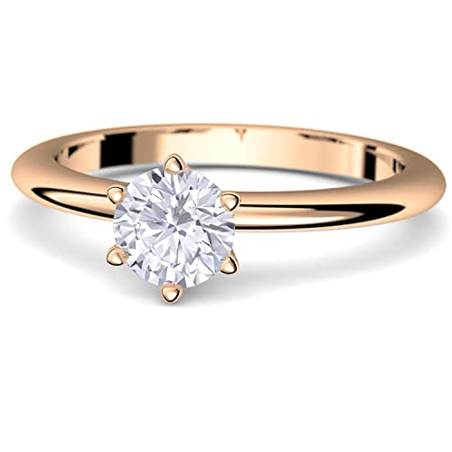 Rosegold Ring Verlobungsringe Rosegold Silber 925 Hochwertig