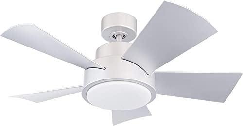 Elf Indoor Outdoor 5-Blade Smart Ceiling Fan 38in Titanium Silver with 3500K LED Light Kit and Wall Control works with iOS Android, Alexa, Google Assistant, Samsung SmartThings, and Ecobee