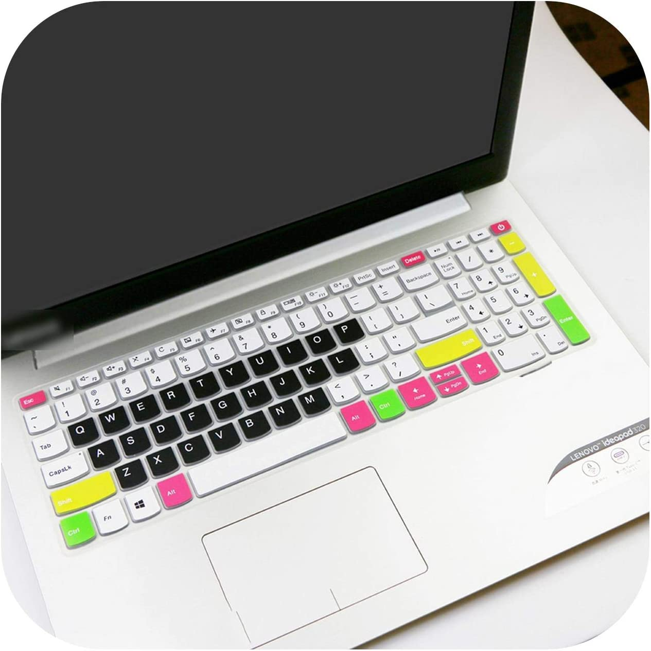 Laptop Keyboard Cover Skin Protector for Lenovo ideapad 320 330 17 330-17 330-17ikb 320-17IKBR V320-17IKB 330-17IKBR 17.3 inch-candyblack-